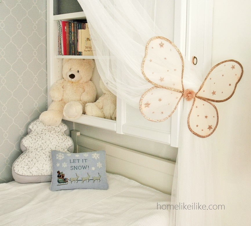 girls room - homelikeilike.com - let it snow!