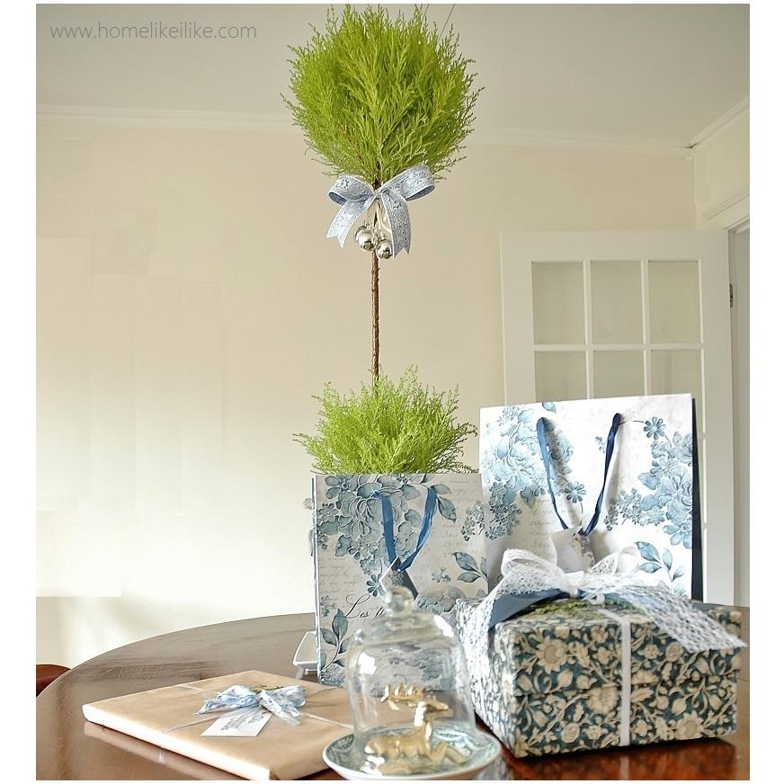 świąteczne ozdoby - biało-niebieskie - homelikeilike.com