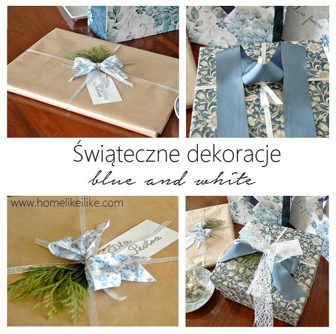 świąteczne ozdoby - blue and white - homelikeilike.com