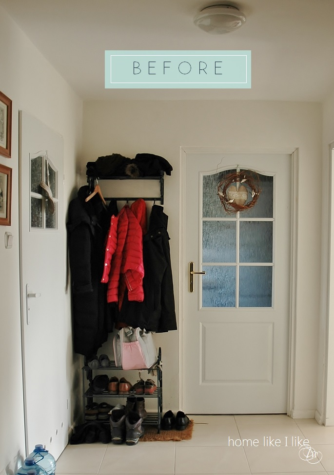 hall makeover - homelikeilike.com