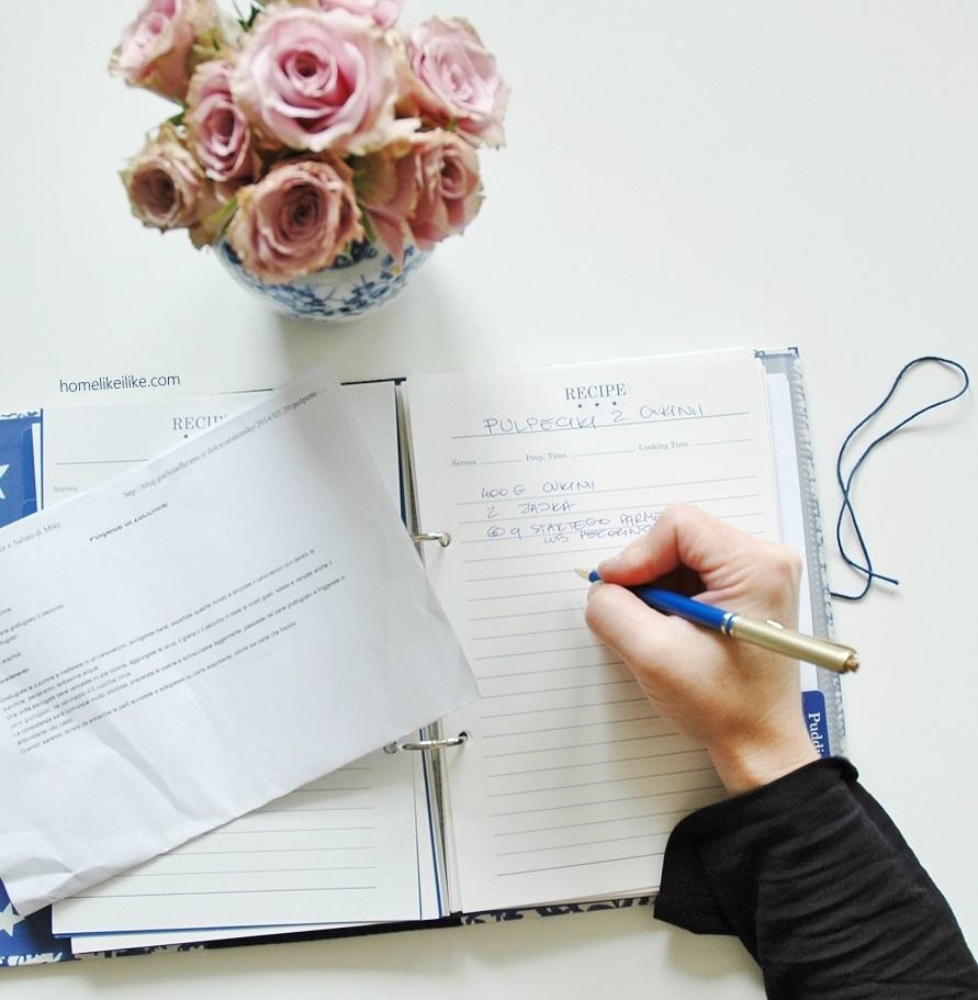 notatnik na przepisy - homelikeilike.com