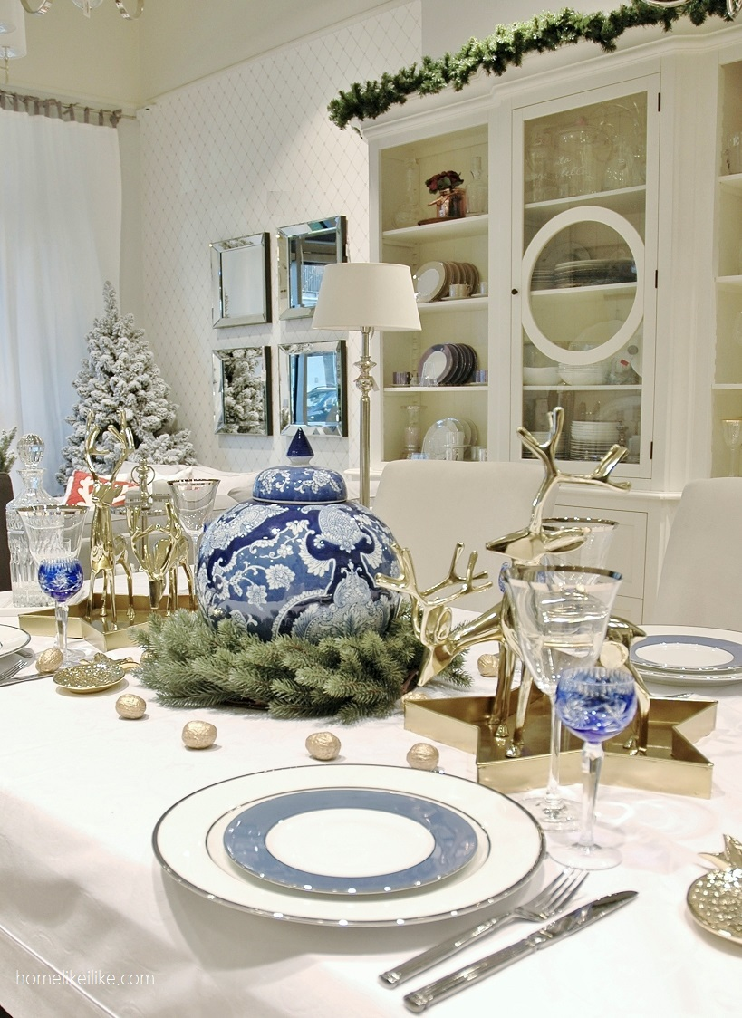 blue and white christmas by sweet living home - homelikeilike.com