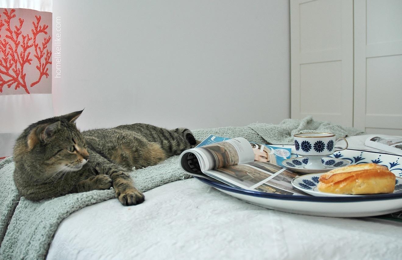 brekfast on the bed - homelikeilike.com