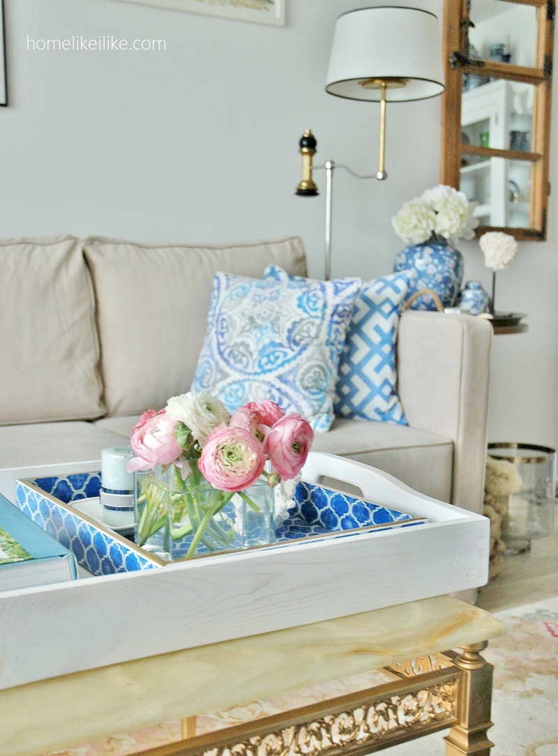 blue and white interiors - homelikeilike.com