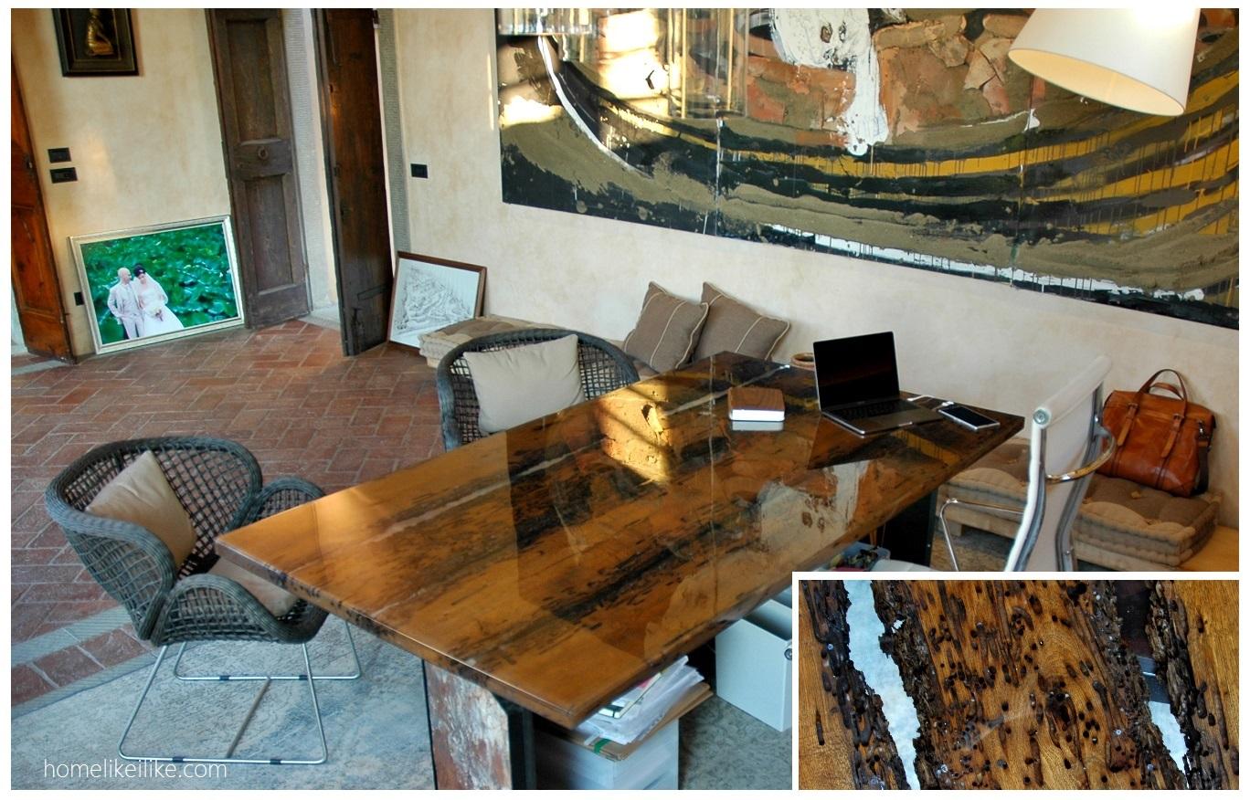 scrivania in pali veneziani by Silvana Olmo - homelikeilike.com
