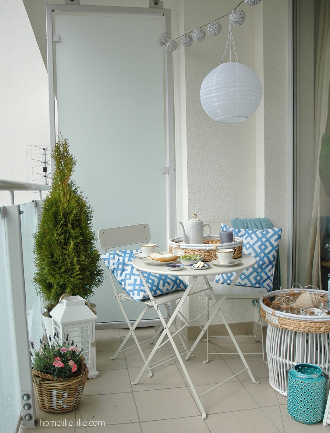 balkon ze Sweet Living Home Inspirations - homelikeilike.com