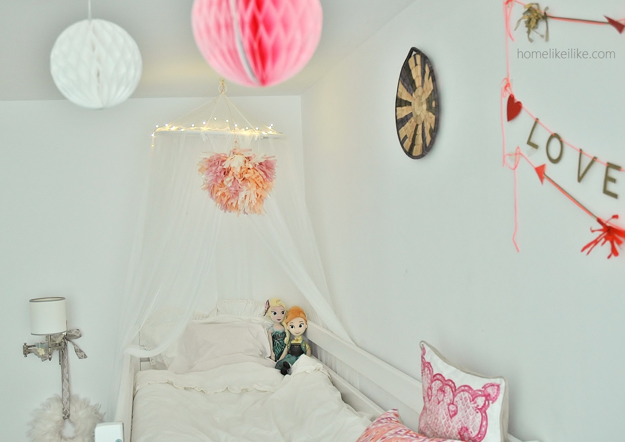 girls room in boho style - homelikeilike.com