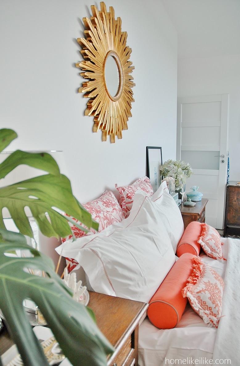 lustro słońce w sypialni - homelikeilike.com