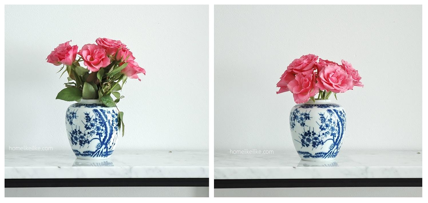 kwiaty w malym wazonie - homelikeilike.com