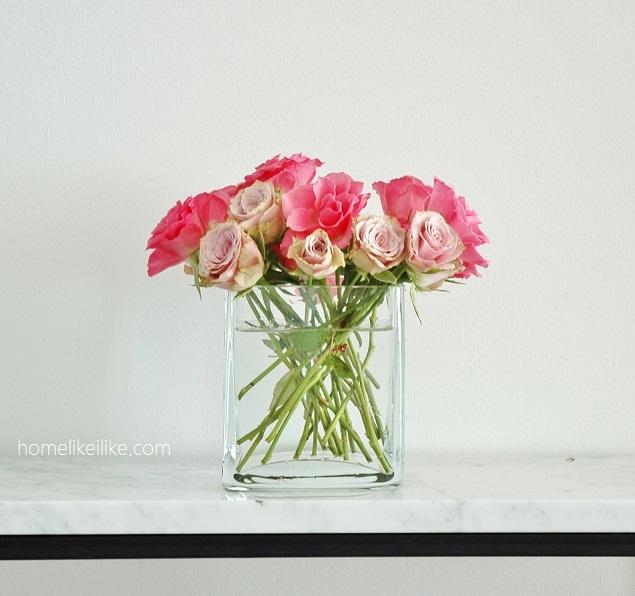 jak dopasować wazon do kwiatów - homelikeilike.com