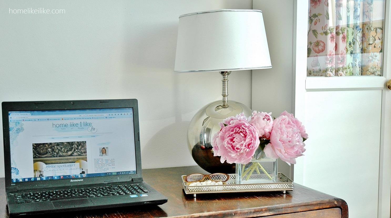 biurko w sypialni - homelikeilike.com