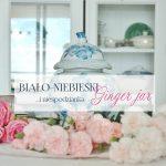 Biało-niebieski ginger jar, kwiaty i coś nowego