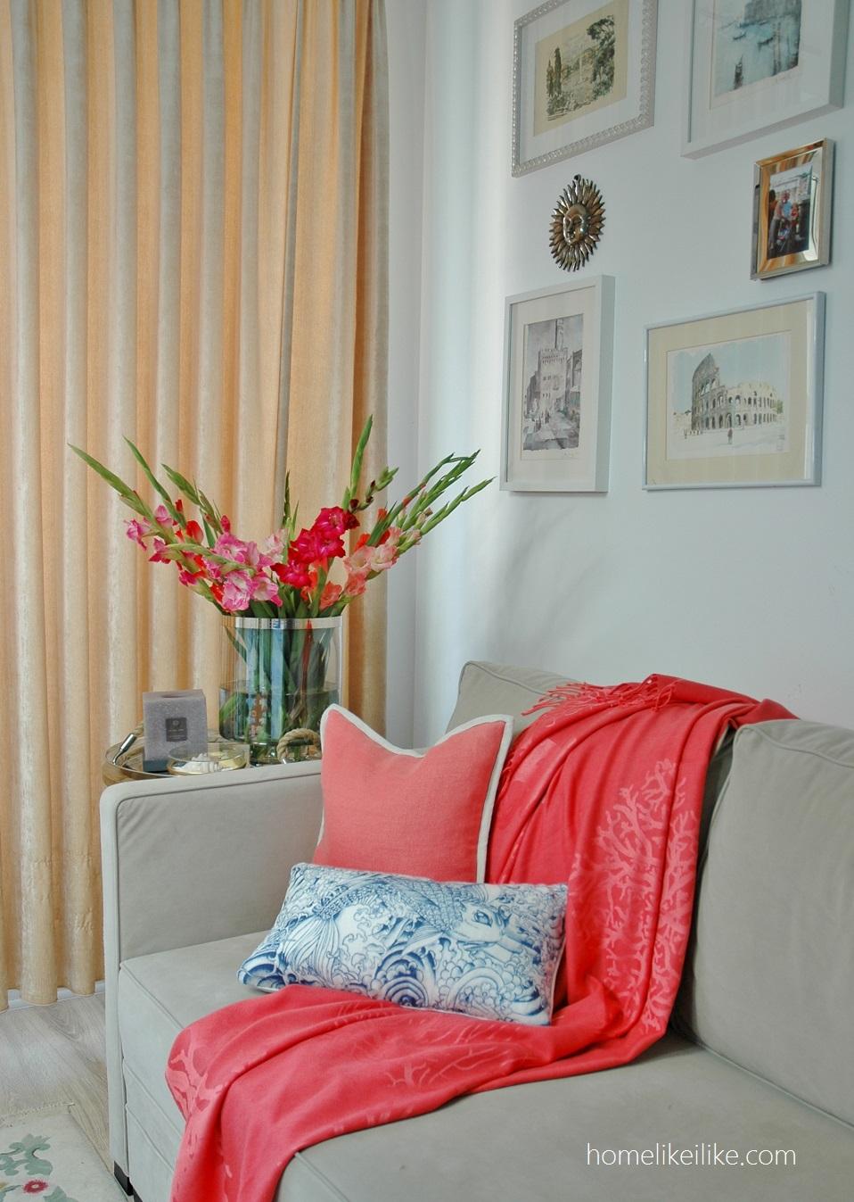 coral - living room - homelikeilike.com