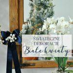 Świąteczne dekoracje – białe kwiaty
