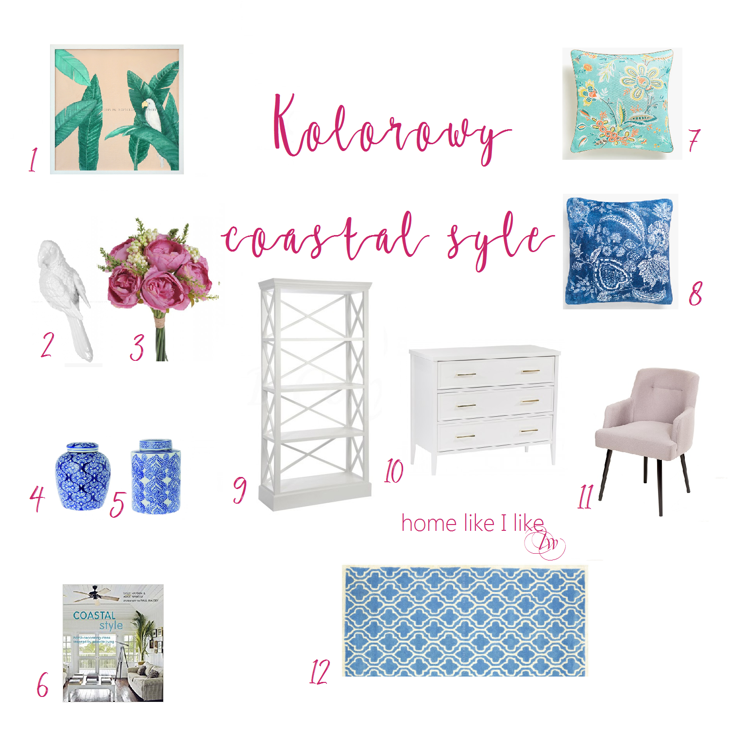 colorful coastal style - homelikeilike.com