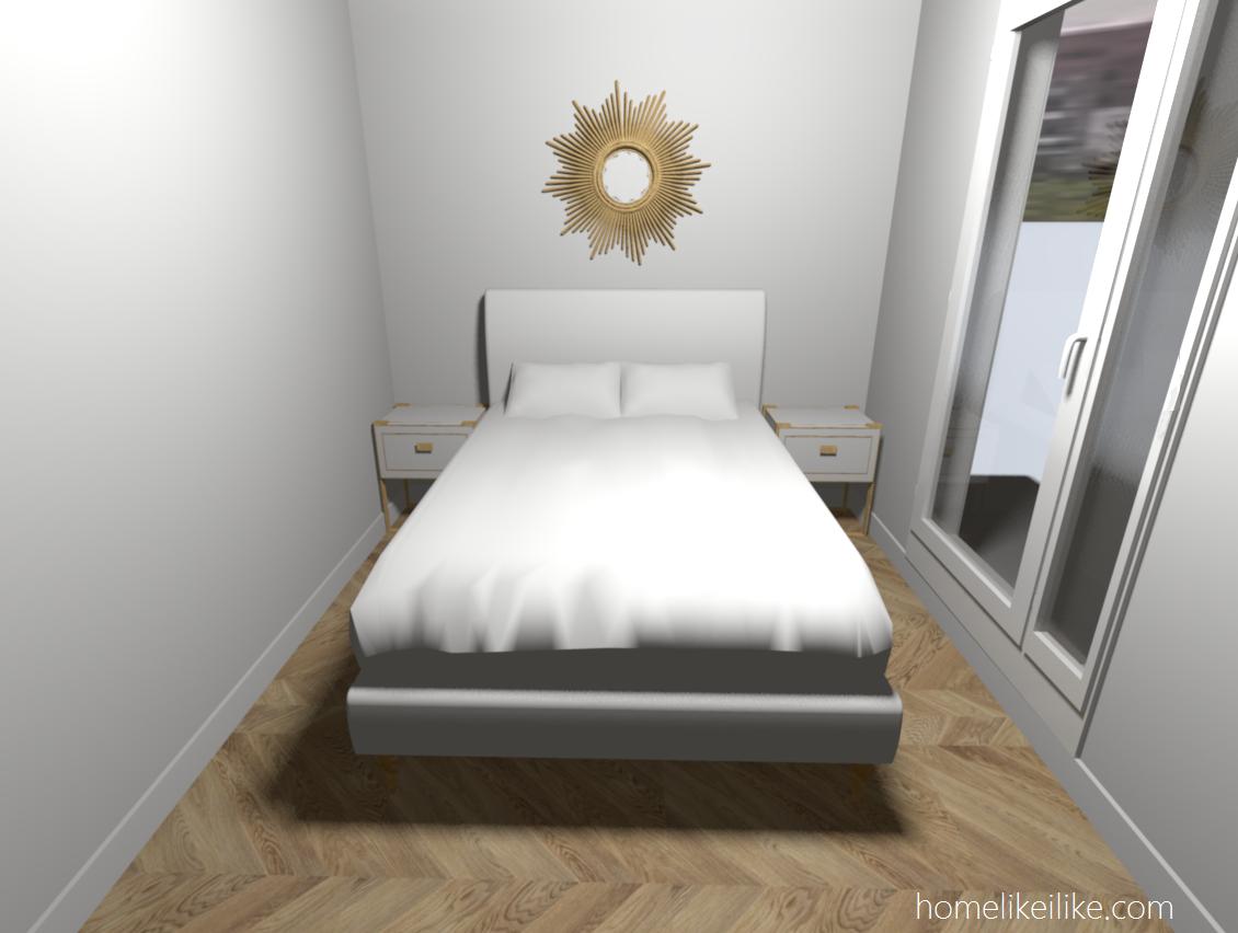 sypialnia w kawalerce - homelikeilike.com