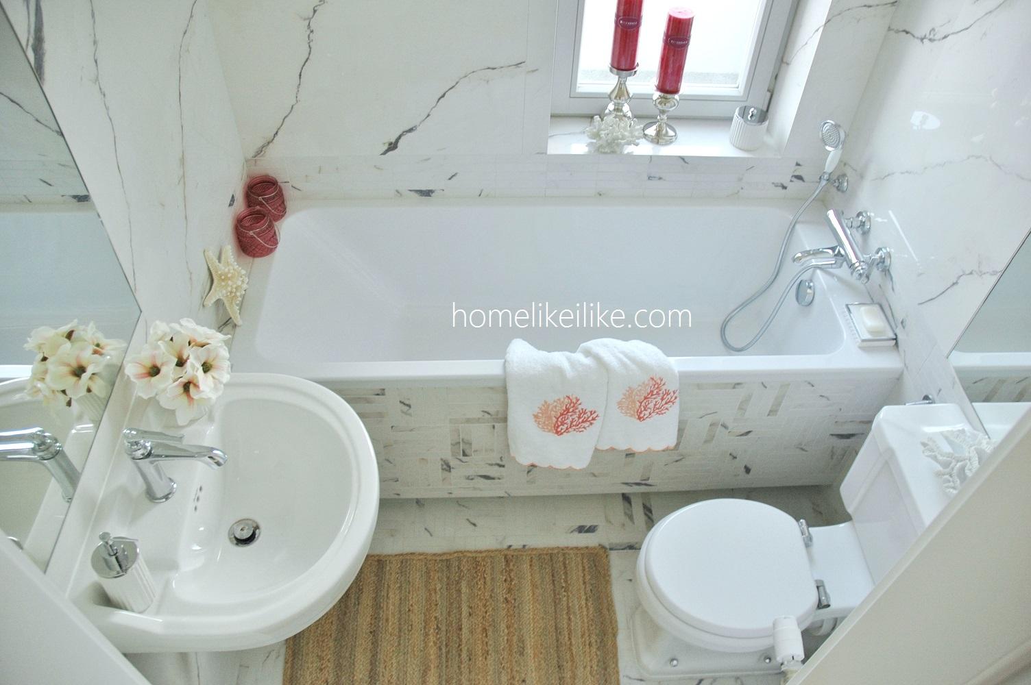 bardzo mała łazienka - homelikeilike.com