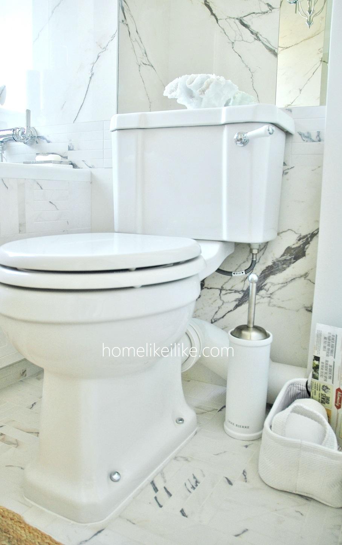 klasyczna mała łazienka - homelikeilike.com