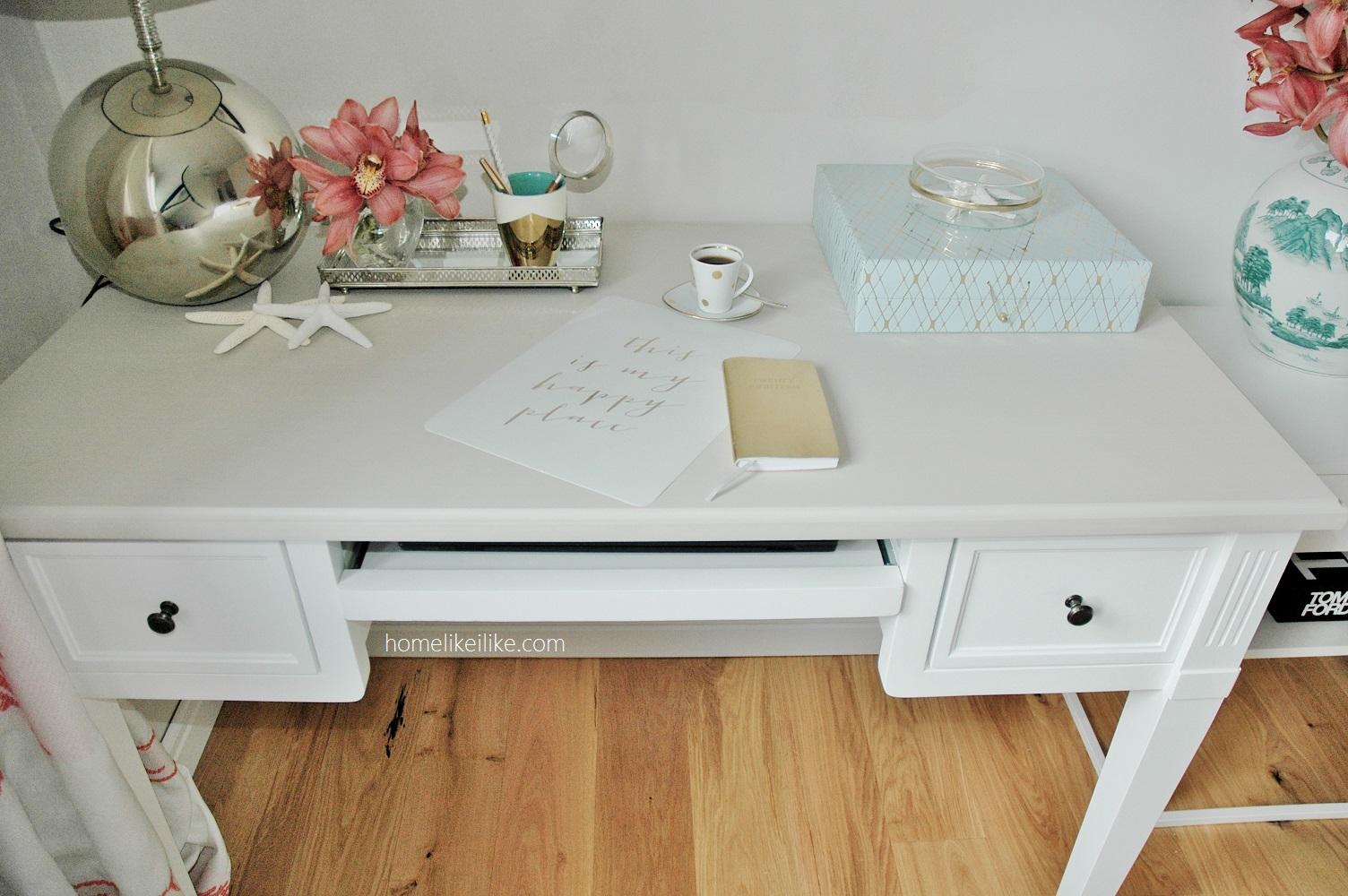 jak zaaranżować biurko - homelikeilike.com