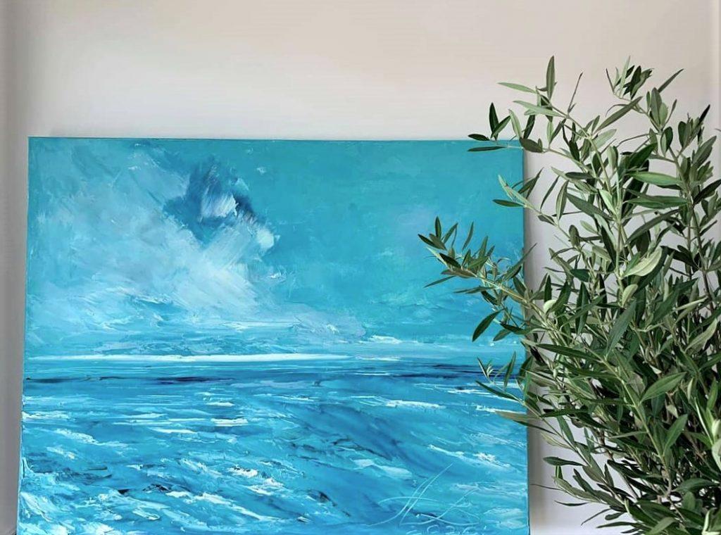 Alicja Wierzbicka Art oil painting peonyparty6
