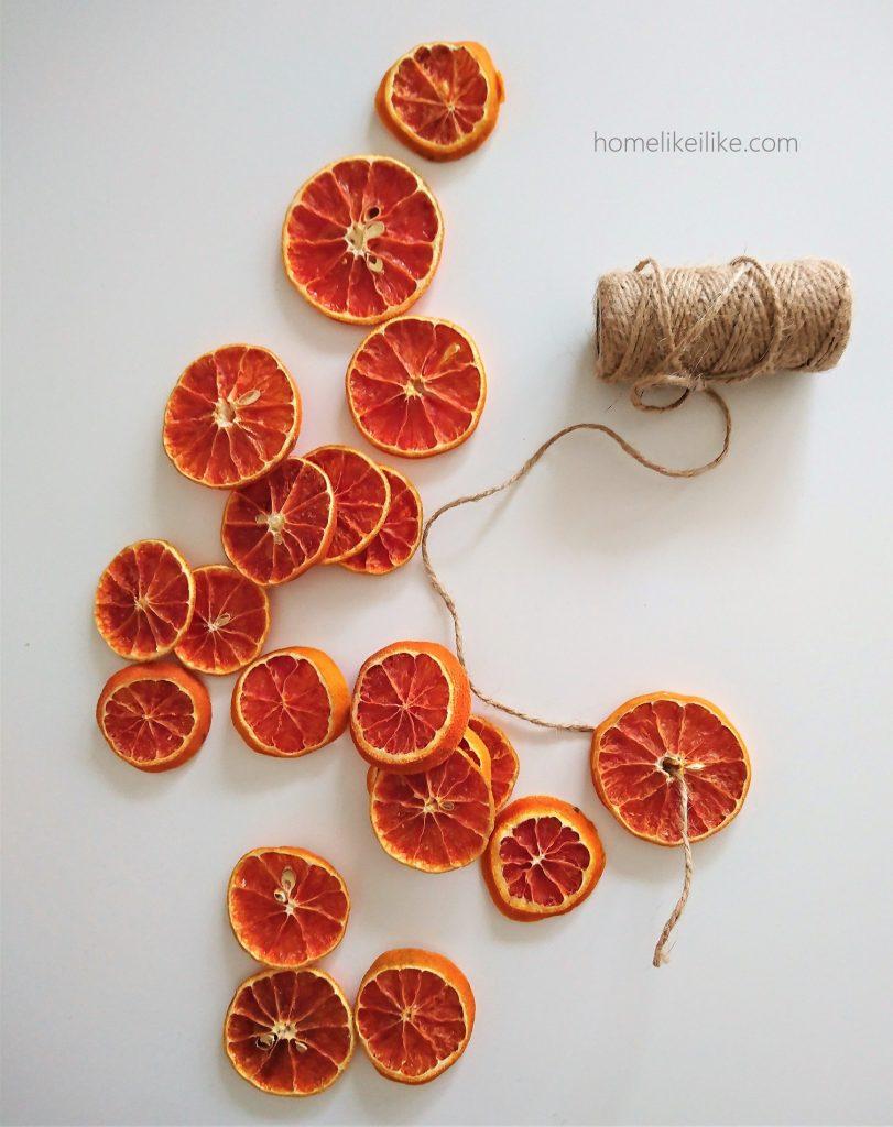 łańcuch z plastrów pomarańczy 1 - homelikeilike.com