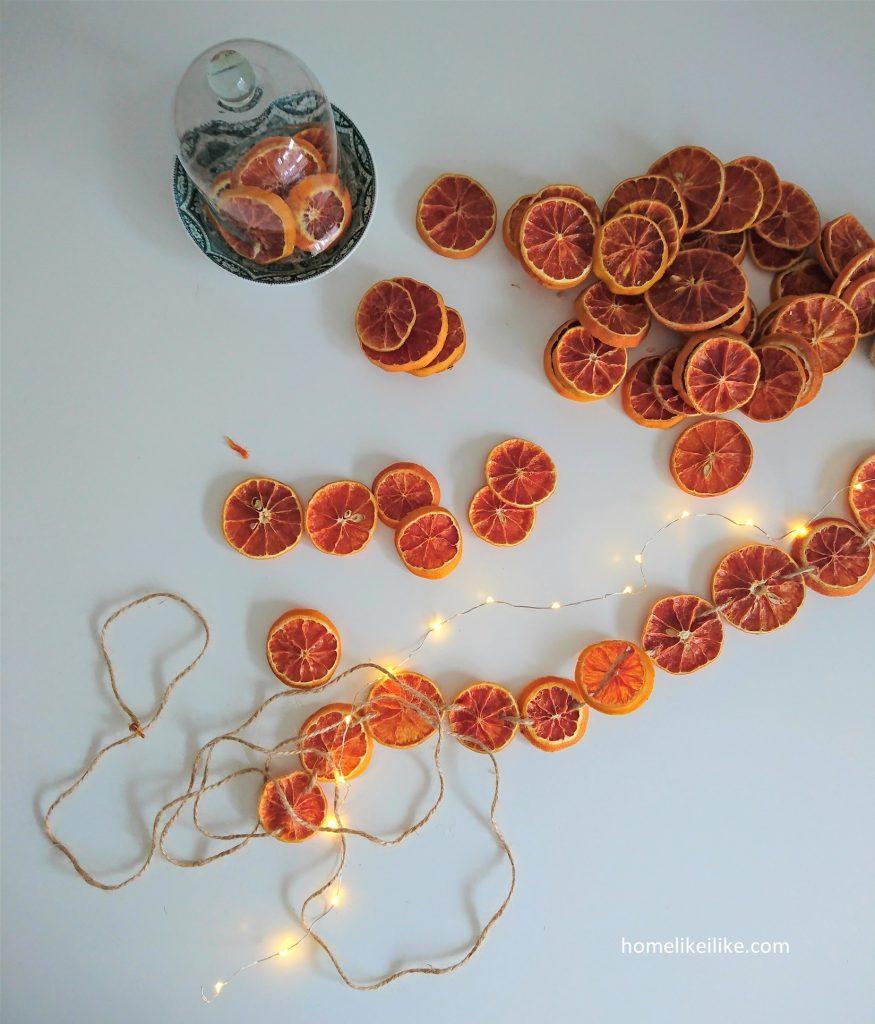 łańcuch z plastrów pomarańczy 4 - homelikeilike.com
