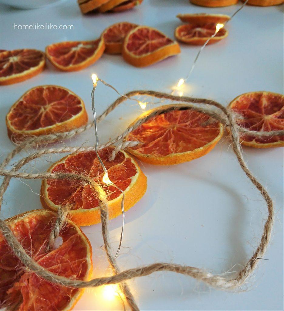 łańcuch z plastrów pomarańczy 5 - homelikeilike.com