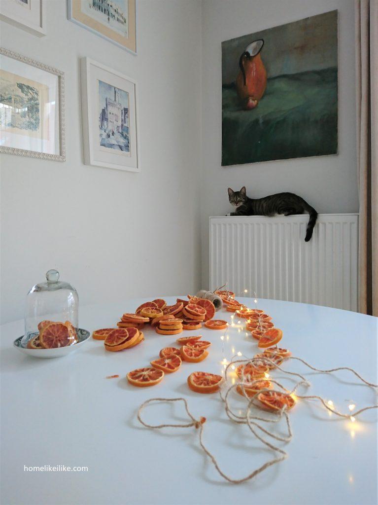 łańcuch z plastrów pomarańczy 6 - homelikeilike.com
